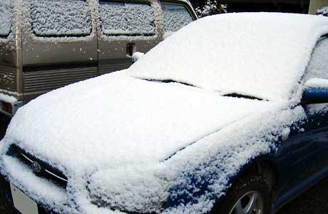雪の下は凍りついている