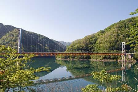九頭竜湖と箱ヶ瀬橋