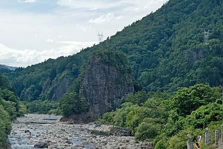 高原川と杖石