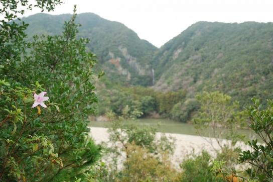 八草の滝遠望