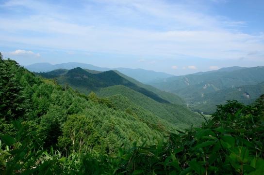 野麦峠から長野県側