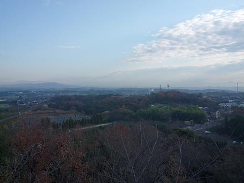 二村山 山頂展望台から