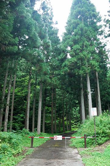 黒沢の滝入口