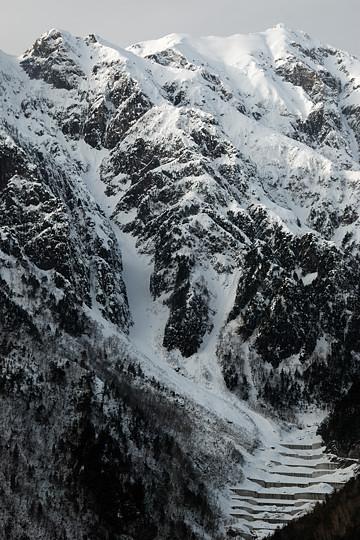 笠ヶ岳と穴毛谷