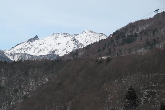 槍ヶ岳とロープウェイ