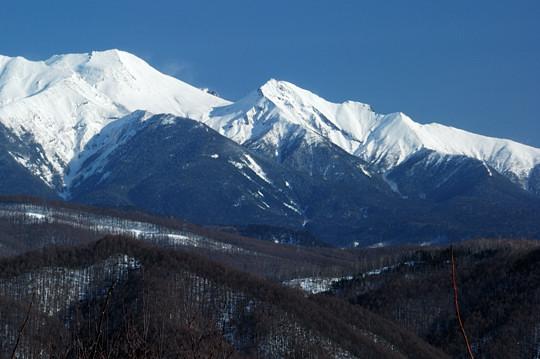 剣ヶ峰から継母岳