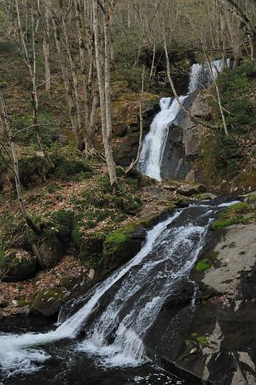 上から上段滝、函滝、平滝