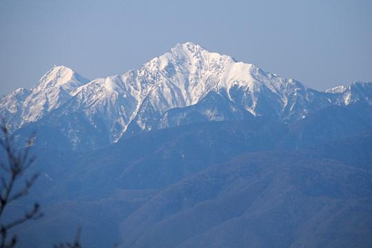 北岳と甲斐駒ヶ岳