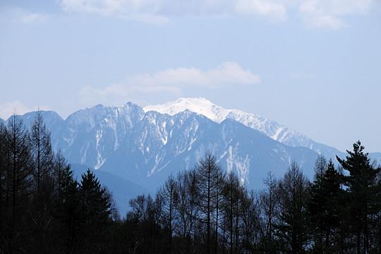 鋸岳と仙丈岳