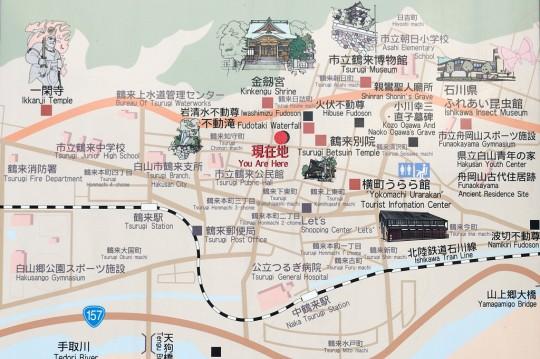 鶴来町案内図