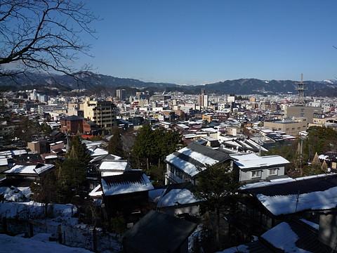 城山から高山市街地