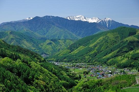 木祖村と木曽駒ヶ岳