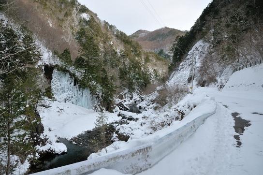 青氷の滝遠望地点