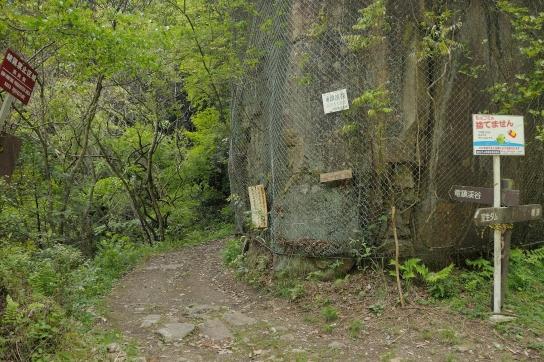 竜鎮渓谷入口