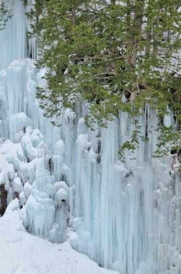 2013年の青氷の滝
